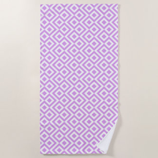 Lavendel-und Weiß-Windungs-Badetuch Strandtuch