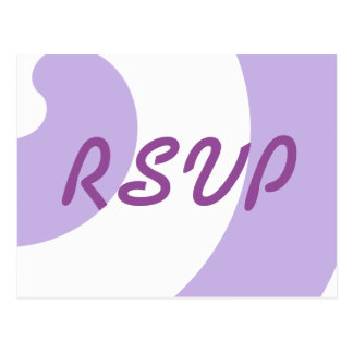 Lavendel und weiße UAWG Karte Postkarte
