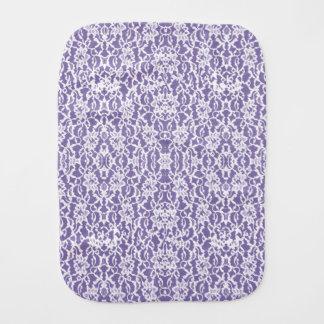 Lavendel und weißer Spitze-Muster-Baby-Stoff Spucktuch