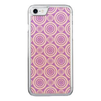 Lavendel und weißes geometrisches Kreis-Muster Carved iPhone 8/7 Hülle