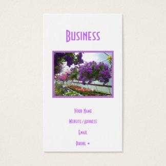 Lavendel-Verbene-lila Petunien Visitenkarte