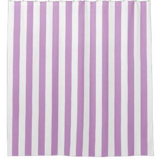 Lavendel-weißer vertikaler Streifen NL #0 Duschvorhang