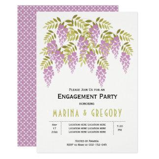 Lavendel Wisteriagrünhochzeits-Verlobungs-Party 12,7 X 17,8 Cm Einladungskarte