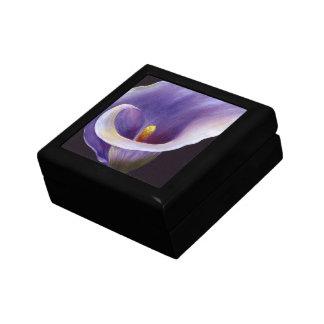 Lavendelcalla-Lilie Schmuckschachtel