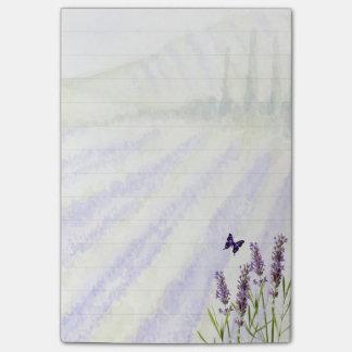 Lavendelfeld Post-it Klebezettel