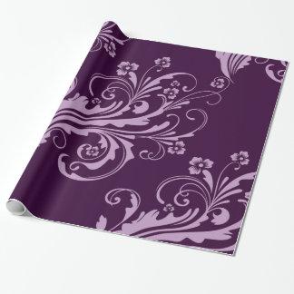 Lavendellila BlumenChic Geschenkpapier