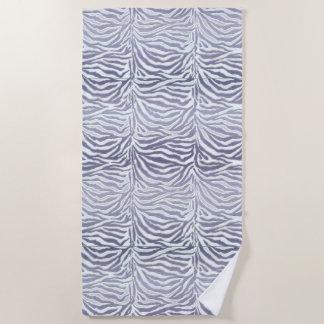 Lavendellila exotischer Zebra-Streifen-Tierdruck Strandtuch