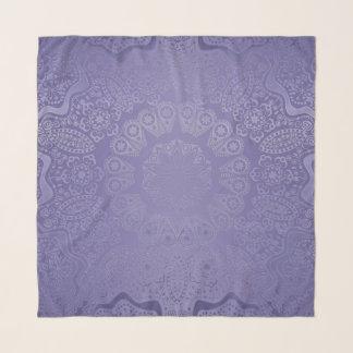 Lavendellila Mandalachiffon-Schal Schal