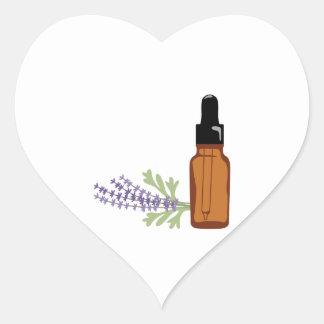Lavendelöl Herz-Aufkleber