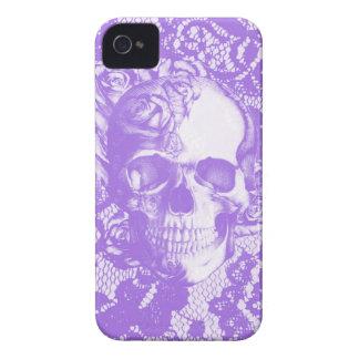 Lavendelspitze-Rosenschädel iPhone 4 Cover