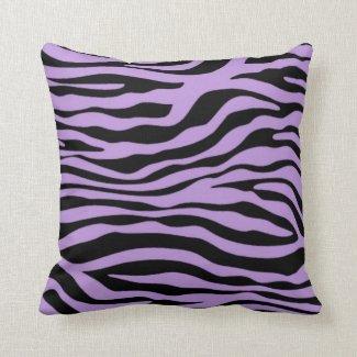 Lavendelzebra-Streifen-Tierdruck Zierkissen