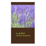 Lavender field photograph + chocolate visitenkarten