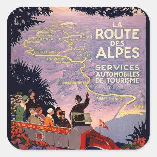 Laweg-DES Alpes Quadratischer Aufkleber