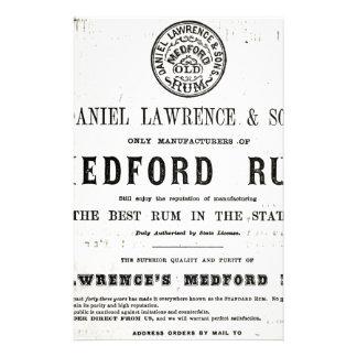 Lawerences Medford Rum Briefpapier