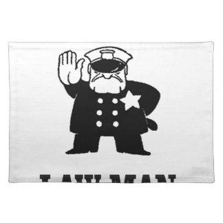 Lawman-Polizist Tischset