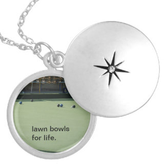Lawn_Bowls_For_Life_Silver_Necklace, Medaillon