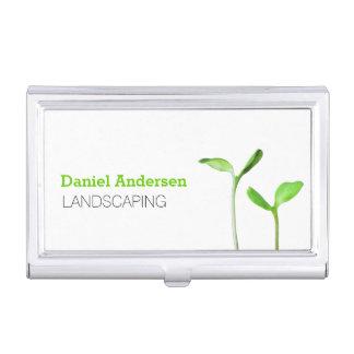 Lawncare, das grüne Sprösslinge des Rasens Visitenkarten Etui
