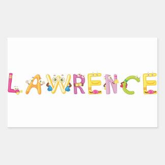 Lawrence-Aufkleber Rechteckiger Aufkleber