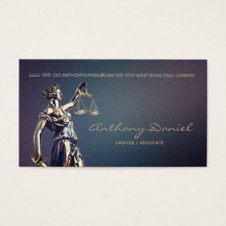Lawyer Advocate Justice Solicitor Business Card Visitenkarte