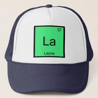 Layne Namenschemie-Element-Periodensystem Truckerkappe