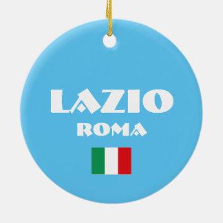 Lazio-Weihnachtskreis-Verzierung Rundes Keramik Ornament
