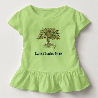 Lc-Stolz-Kleinkind-Rüsche-T-Stück (Baum/Grün) Kleinkind T-shirt