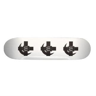 LCA Freundschafts-Button B+W Personalisiertes Skateboard