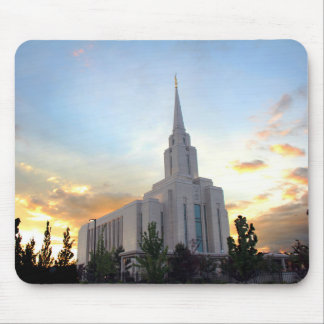 LDS mormonischer Oquirrh Gebirgsutah-Tempel Mousepad