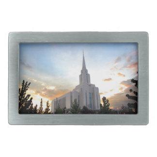 LDS mormonischer Oquirrh Gebirgsutah-Tempel Rechteckige Gürtelschnalle