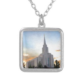LDS mormonischer Oquirrh Gebirgsutah-Tempel Versilberte Kette