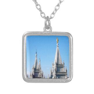 lds Salt Lake City Tempelengel Moroni Versilberte Kette