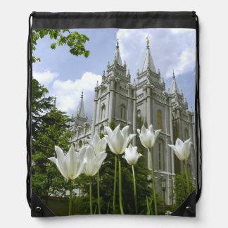 LDS SLC Utah Tempel-Tasche Turnbeutel