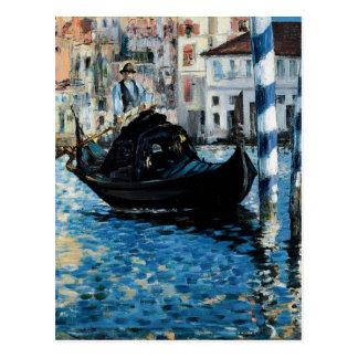 Le-Canal Grande à Venise - Edouard Manet Postkarte