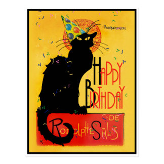 Le Chat Noir - alles- Gute zum Geburtstaggrüße Postkarte