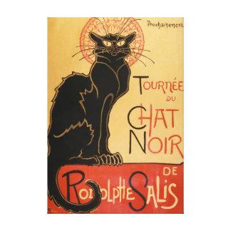 Le Chat Noir (die schwarze Katze) Leinwanddruck