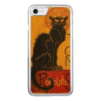 Le Chat Noir die schwarze Katzen-Kunst Nouveau Carved iPhone 8/7 Hülle