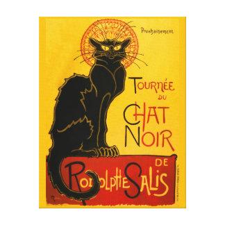 Le Chat Noir die schwarze Katzen-Kunst Nouveau Galerie Gefaltete Leinwand