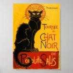 Le Chat Noir die schwarze Katzen-Kunst Nouveau Poster