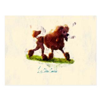 Le Chien Caniche Postkarte