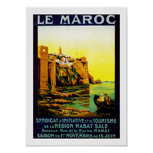Le Maroc ~ Rabat Posterdrucke