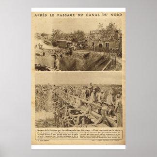 Le Miroir 1918 Canal du Nord Posterdrucke