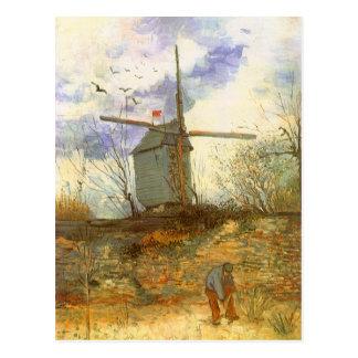 Le Moulin Galette durch Vincent van Gogh, Postkarte