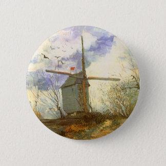 Le Moulin Galette durch Vincent van Gogh, Runder Button 5,7 Cm