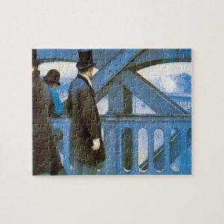 Le Pont de l'Europe durch Gustave Caillebotte Puzzle
