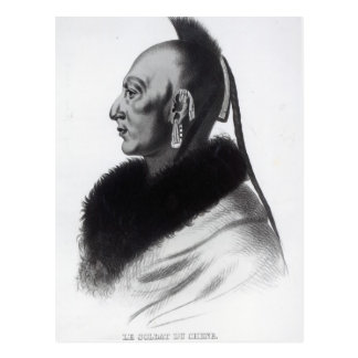 Le Soldat du Chene, ein Osage-Leiter Postkarte