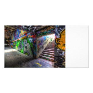 Leake Straßen-London-Graffiti Photokartenvorlagen