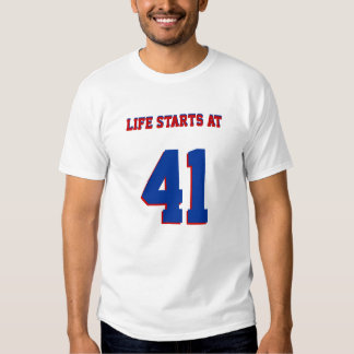 Leben-beginnen mit lustigen 41. Geburtstag 41 T Shirt