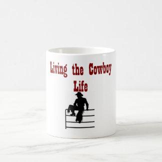 Leben das Cowboy-Leben Kaffeetasse