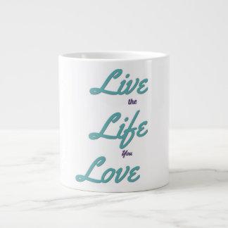 Leben das Leben Sie Liebekaffee-Tasse Jumbo-Tasse