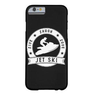 Leben der Lachen-Liebe-Jet-Ski-Kreis (weiß) Barely There iPhone 6 Hülle